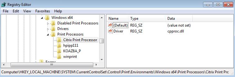 Citrix Print Processor